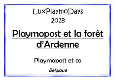 Playmopost et la forêt d'Ardenne (1)