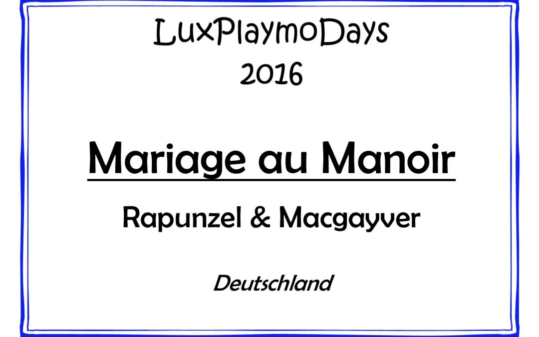 Mariage au manoir