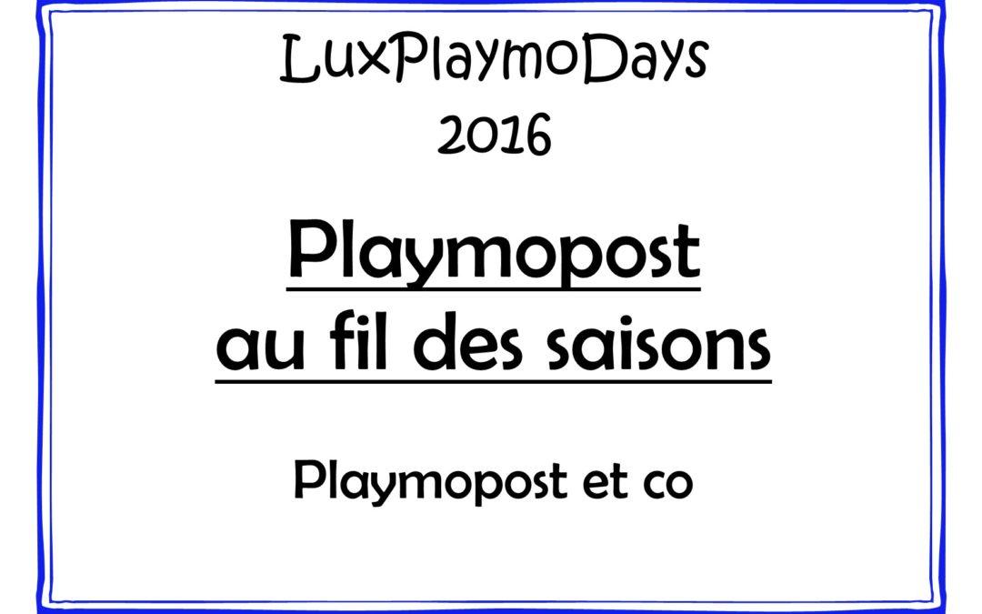 Playmopost au fil des saisons