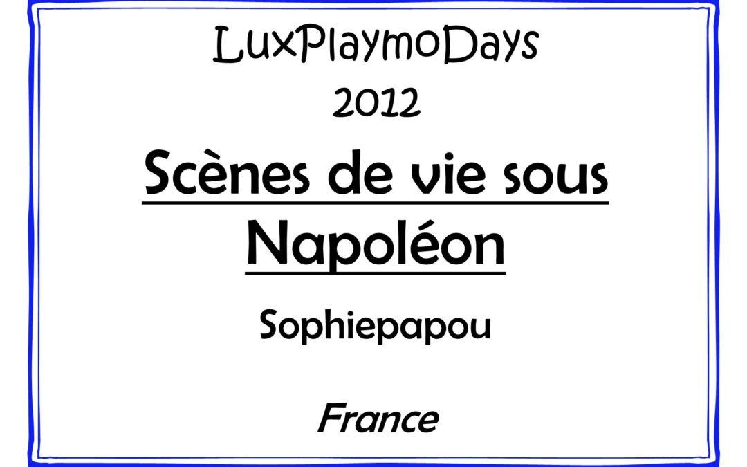 Scènes de vie sous Napoléon